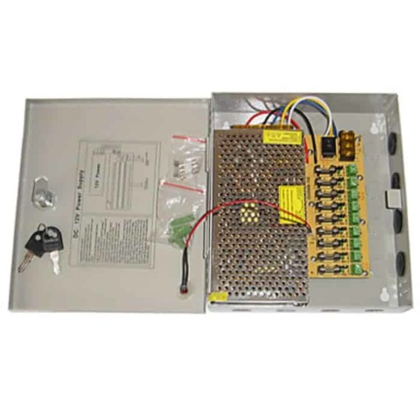 ANGA CP1209-10A-9 Σταθεροποιημένο τροφοδοτικό 12V/10A/120W, 9 εξόδων 1