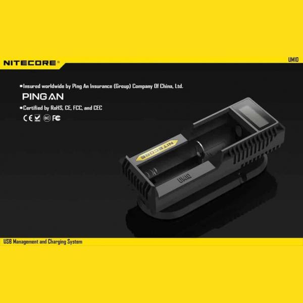 NITECORE UM10 Φορτιστής μπαταριών λιθίου 15