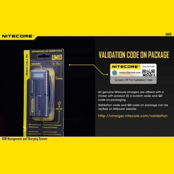 NITECORE UM10 Φορτιστής μπαταριών λιθίου 17
