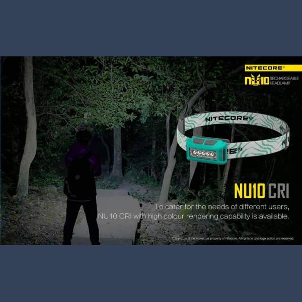 NITECORE ΦΑΚΟΣ LED HEADLAMP NU10 160LM 21