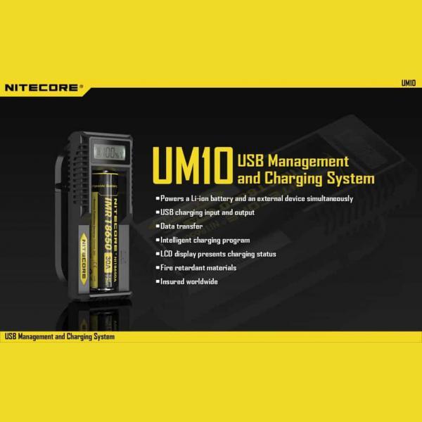 NITECORE UM10 Φορτιστής μπαταριών λιθίου 4