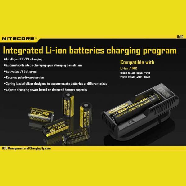 NITECORE UM10 Φορτιστής μπαταριών λιθίου 5