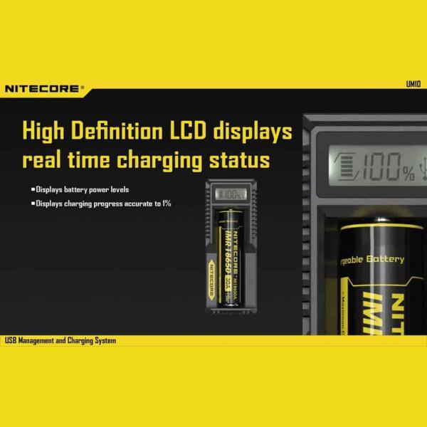 NITECORE UM10 Φορτιστής μπαταριών λιθίου 6