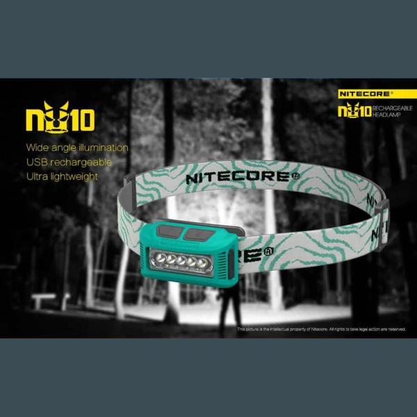 NITECORE ΦΑΚΟΣ LED HEADLAMP NU10 160LM 8