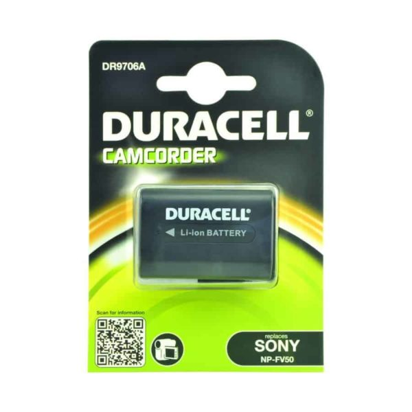 DURACELL DR9706A Camcorder battery 7.4V 650mAh Sony NP-FV50 1