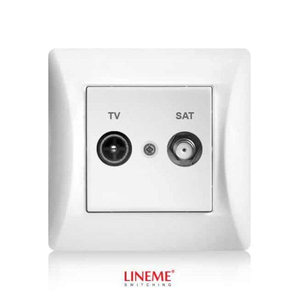 LINEME ΠΡΙΖΑ TV-SAT ΔΙΕΛΕΥΣΕΩΣ ΛΕΥΚΗ Hseries 50-00134-1 1