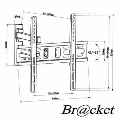 "BRACKET LCD3040-1 Βάση τηλεόρασης 32""- 55"" VESA400 35KG 2"
