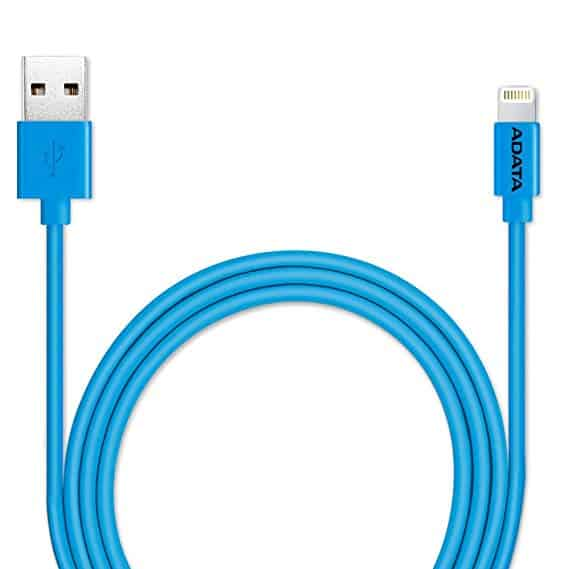 ADATA Sync and Charge Lightning Cable, USB, MFi Blue 1