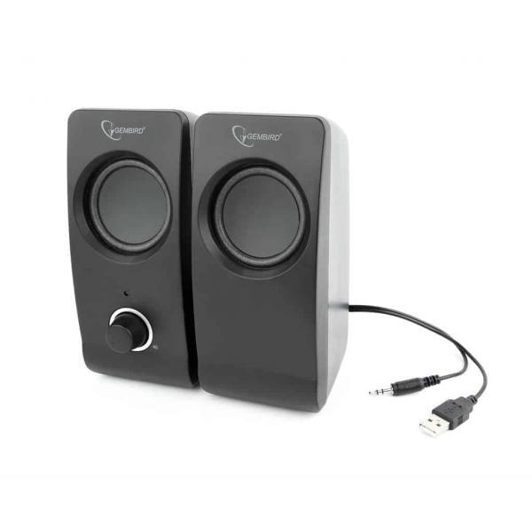 Gembird Desktop Stereo Speakers 2.0 Tsunami 6WRMS black 3