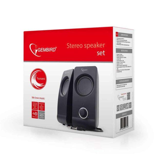 Gembird Desktop Stereo Speakers 2.0 Tsunami 6WRMS black 2