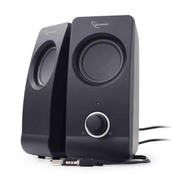 Gembird Desktop Stereo Speakers 2.0 Tsunami 6WRMS black 1
