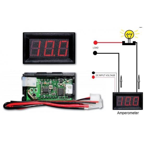 Ψηφιακό αμπερόμετρο 0-10Α DC με ενσωματωμένο SHUNT 1