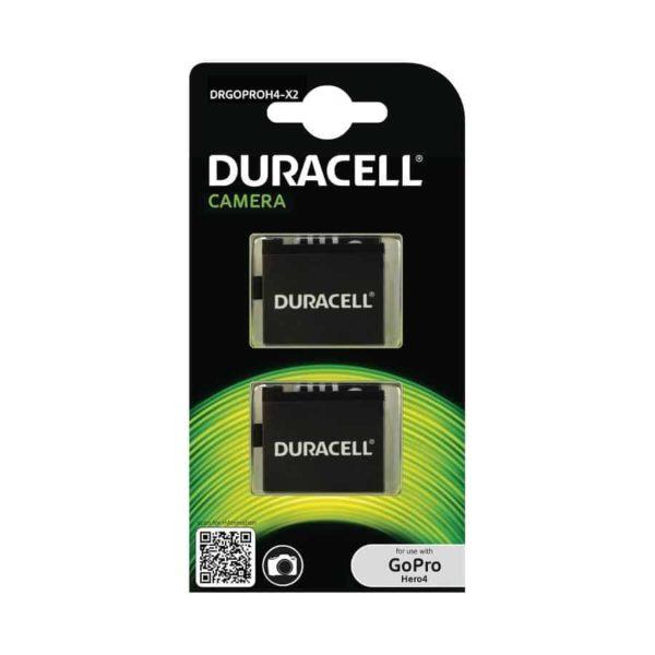 DURACELL Συμβατή μπαταρία για κάμερα GoPro Hero 4 (2τμχ.) DRGOPROH4-X2 1