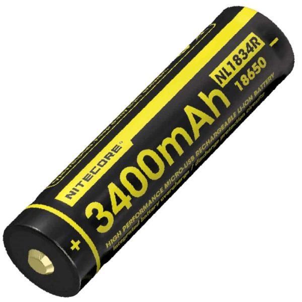 NITECORE NL1834R micro-USB rechargeable 3400mAh LI-ION battery