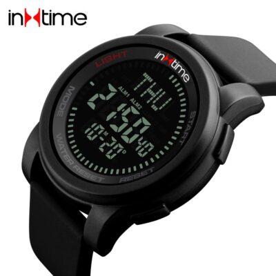 INTIME Ρολόι χειρός Comp-01, πυξίδα, World time, El φωτισμός