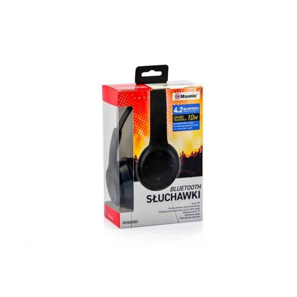 Msonic Bluetooth 4.2 headphones with microphone MH860BX black 10