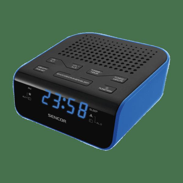 SENCOR SRC 136 BU Radioclock with Dual Alarm Blue 1
