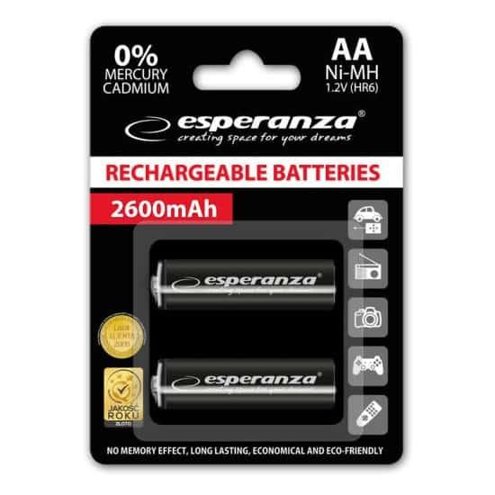 ESPERANZA HR6 AA 1.2V 2600mAh Μπαταρίες επαναφορτιζόμενες 1