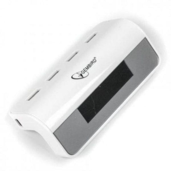 GEMBIRD USB 2.0 HUB 4 Θέσεων με Ρολόι & Ξυπνητήρι UHB-CT08 2