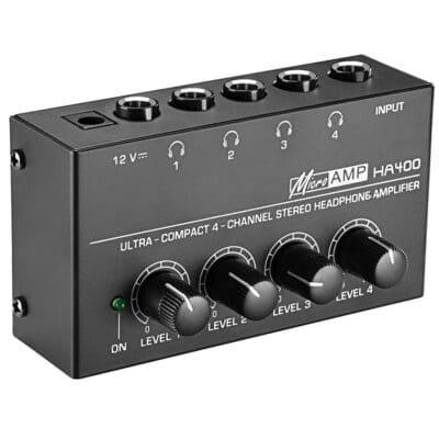 N-AUDIO HA400 Stereo Ενισχυτής Ακουστικών 4 Καναλίων