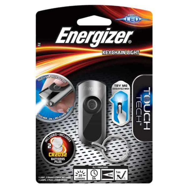Energizer Touch Tech Keychain Light 20lm 10m 2