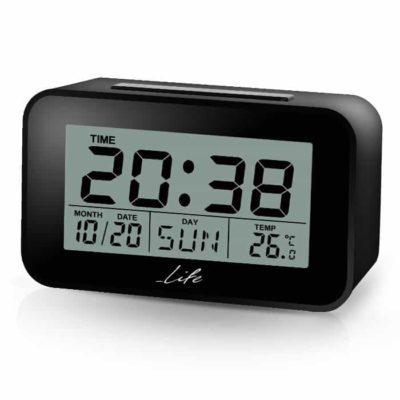 Life ACL-201 Ψηφιακό ρολόι, ξυπνητήρι με οθόνη LCD & θερμόμετρο.