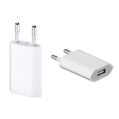 APPLE Φορτιστής τοίχου MD813ZM-A, USB, 5W, 1A, λευκό Retail Box