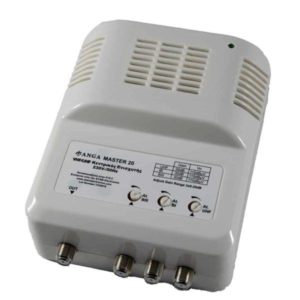 ANGA MASTER 20 Κεντρικός Ενισχυτής 4G LTE UHF 35dB/115dBμV 1