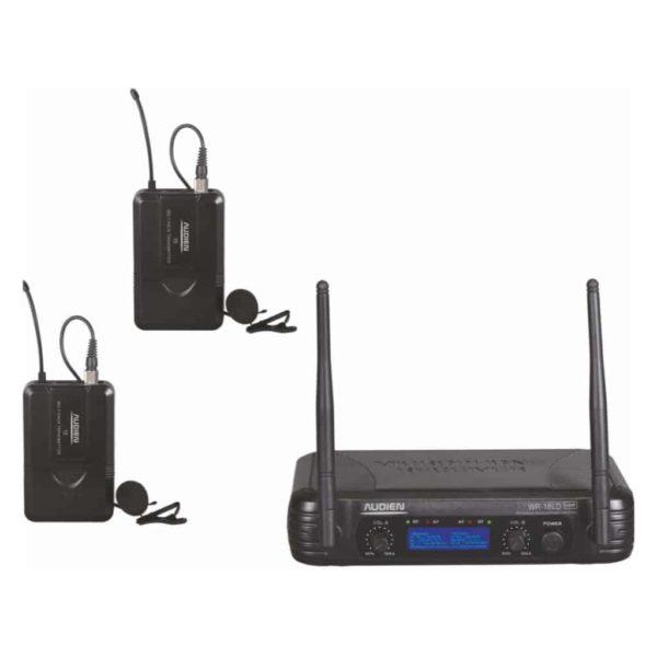 AUDIEN Ασύρματο Μικρόφωνο Πέτου Διπλό UHF WR-18LD-D 1