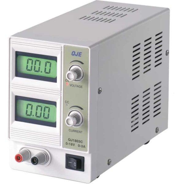 QJ-1803C ΕΡΓΑΣΤΗΡΙΑΚΟ ΤΡΟΦΟΔΟΤΙΚΟ 0-18VDC 0-3A ΜΕ LCD ΟΘΟΝΗ 1