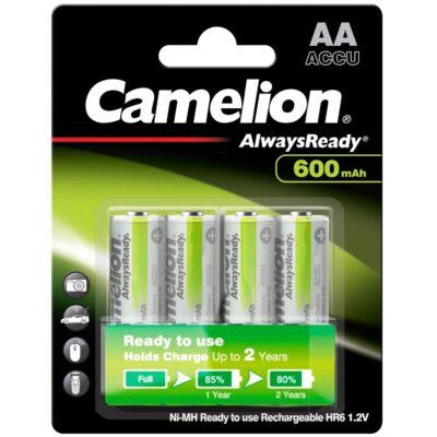 Camelion HR6 AA 1.2V 600mAh AlwaysReady Επαν/νες Μπαταρίες NH-AA600ARBP4 (4τμχ.)