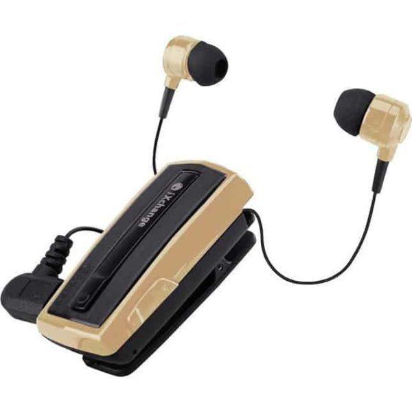 iXchange Stereo Retractable Bluetooth Headset UA-28SE-V Gold 2