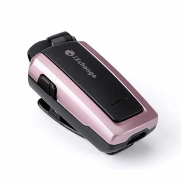 iXchange retractable bluetooth headset pink UA-25XB 1