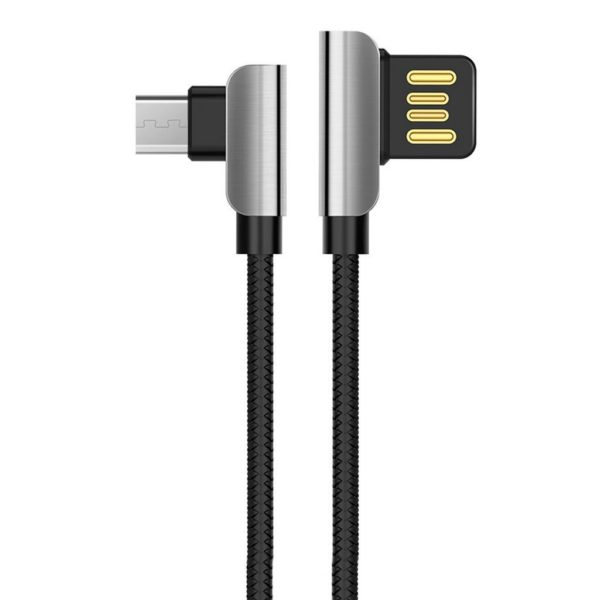 Hoco U42 Καλώδιο σύνδεσης Exquisite Steel USB σε Micro-USB Fast Charging 2.4A Μαύρο 1.2 μ. 1
