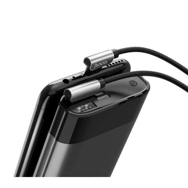 Hoco U42 Καλώδιο σύνδεσης Exquisite Steel USB σε Micro-USB Fast Charging 2.4A Μαύρο 1.2 μ. 4
