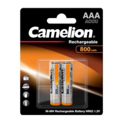 Camelion 800mAh Μπαταρία Επαναφορτιζόμενη AAA NH-AAA800BP2