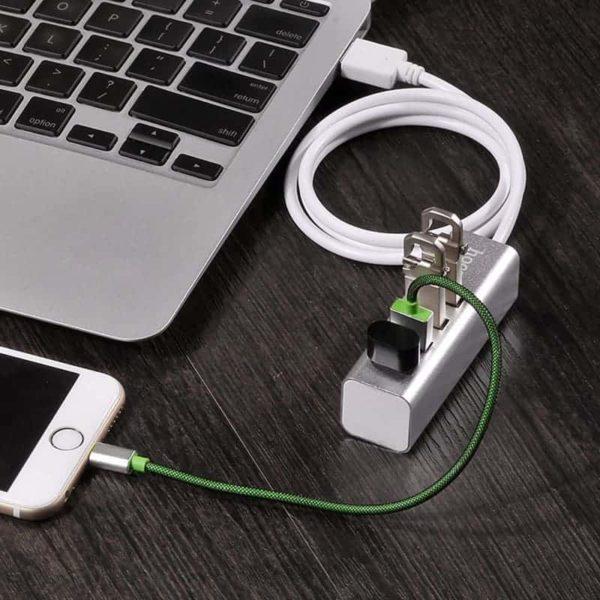 HOCO HB1 4 Θέσεων USB 2.0 Hub Ασημί 5