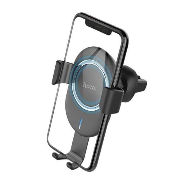Hoco CW17 Sage Βάση Κινητού Αυτοκινήτου με Ασύρματη Φόρτιση Μαύρη