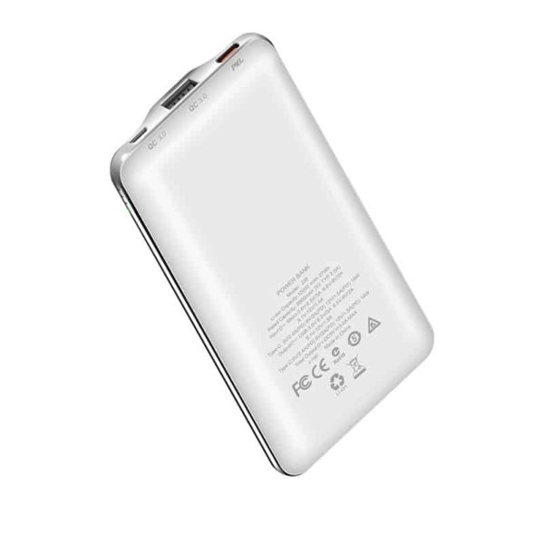 HOCO J39 Power Bank 10000mAh QC 3.0, MicroUSB & Type-C Λευκό 2
