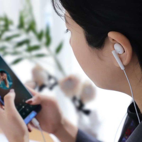 Hoco L10 Hands Free Earphones Stereo Type-C Λευκά με Μικρόφωνο και Πλήκτρο Λειτουργίας 7