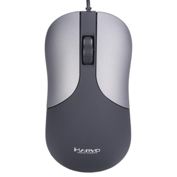 Marvo USB Wired Mouse 1200dpi 3 Buttons Black/Grey DMS002
