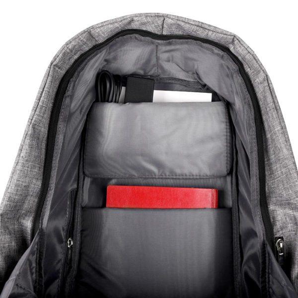 NOD CitySafe Αnti-theft σακίδιο πλάτης για laptop έως 15,6'' με ενσωματωμένη θύρα USB σε γκρι χρώμα 3