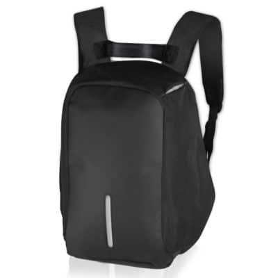Αnti-theft σακίδιο πλάτης για laptop έως 15,6'' με ενσωματωμένη θύρα USB, σε μαύρο χρώμα.