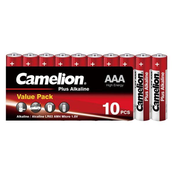 Camelion AAA LR03 1.5V Αλκαλικές μπαταρίες Value Pack (10τμχ.)