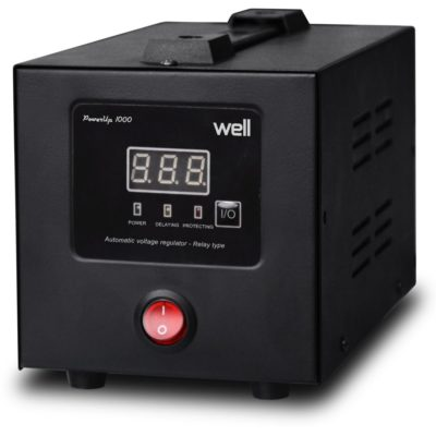 Well 1000VA Σταθεροποιητής τάσης υψηλής ακρίβειας με Ψηφιακή Οθόνη PowerUp1000