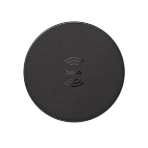 Hoco CW14 Round Wireless charger portable tabletop charging pad dock, black
