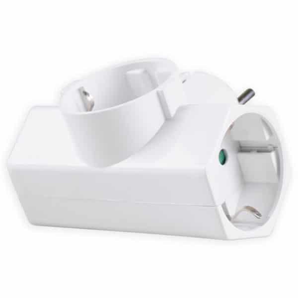 SONORA Αντάπτορας ρεύματος ταφ 3 θέσεων σούκο, λευκός CPAW300