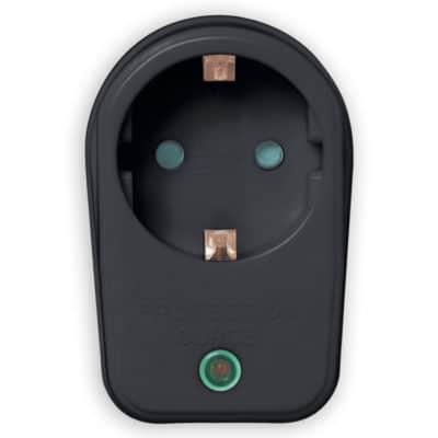 SONORA Αντάπτορας ρεύματος με προστασία υπέρτασης, μαύρος SPAB100