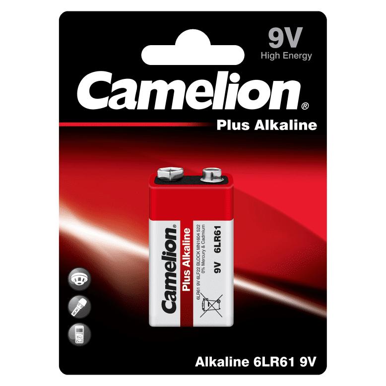 Camelion 6LR61 Αλκαλική Μπαταρία 9V Plus Alkaline