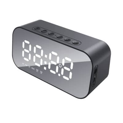 Havit M3 Φορητό Ηχείο Μαύρο με Ρολόι, Ξυπνητήρι, Bluetooth, FM Radio & TF Card